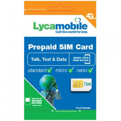Lycamobile USA Unlimited Sim Card- @mrsimcard