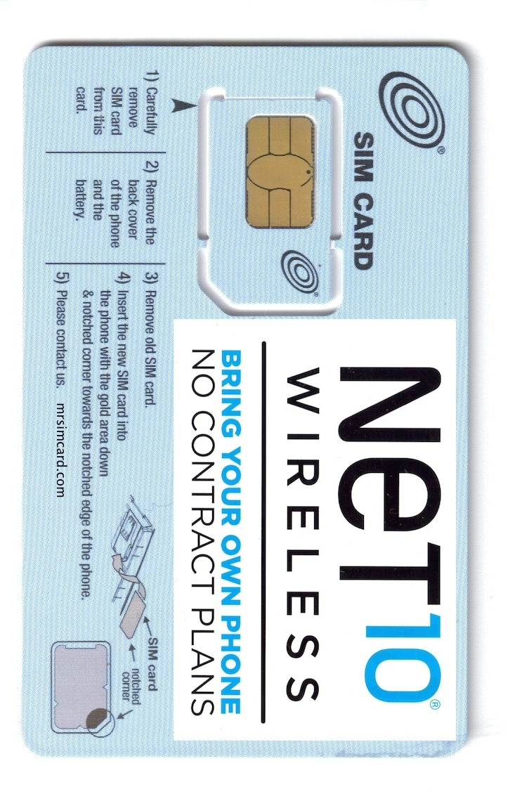 Net 10 Wireless USA Sim Card