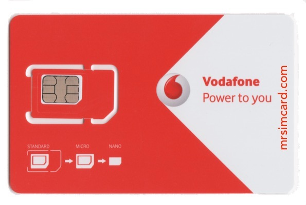 Vodafone UK Sim Card - @mrsimcard